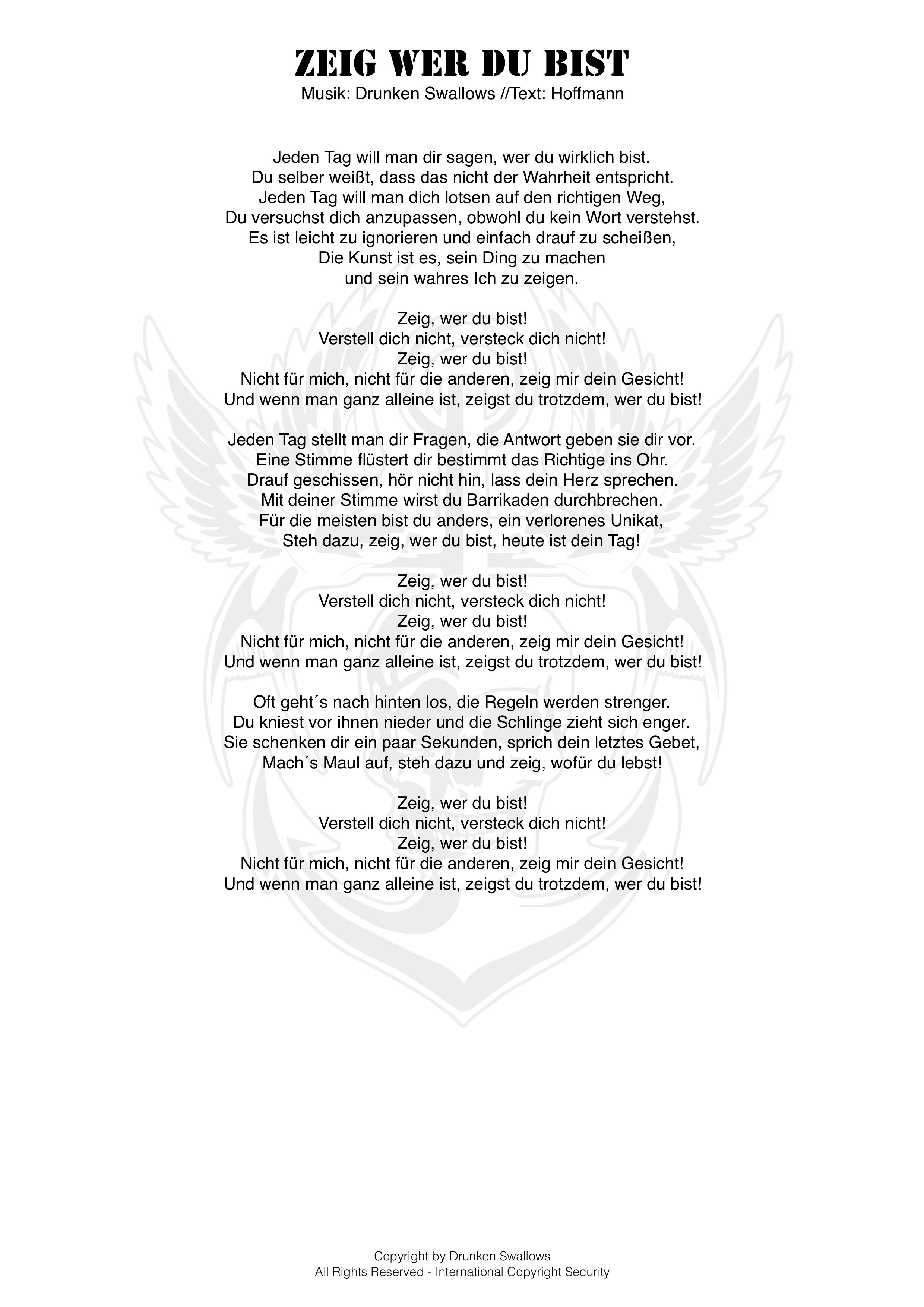dein gesicht lyrics