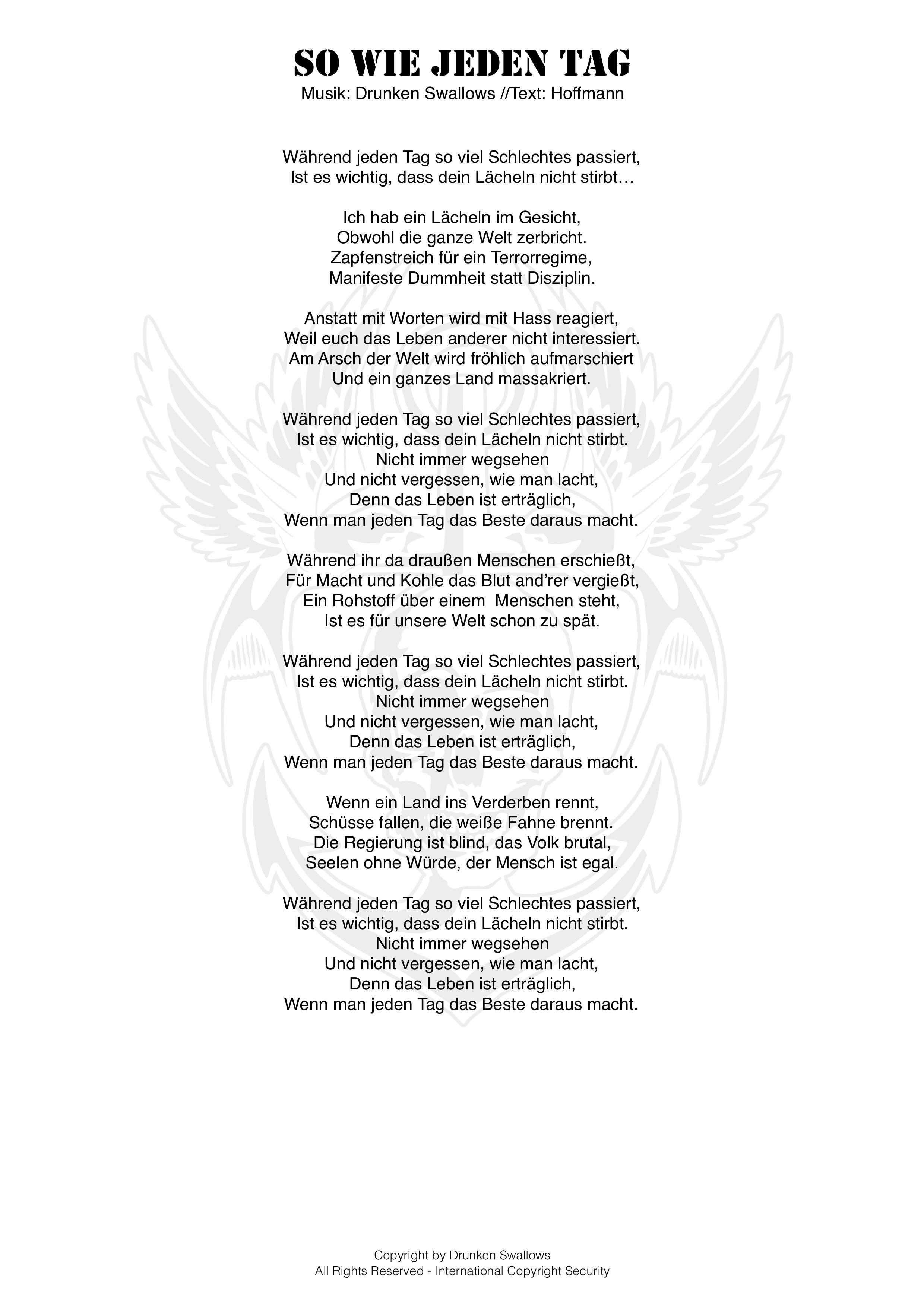 Das Leben ist ein Liedtext